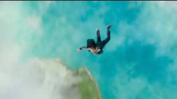 Calvin (Levi Miller) falls through the air in a shot from the trailer for A Wrinkle in Time.