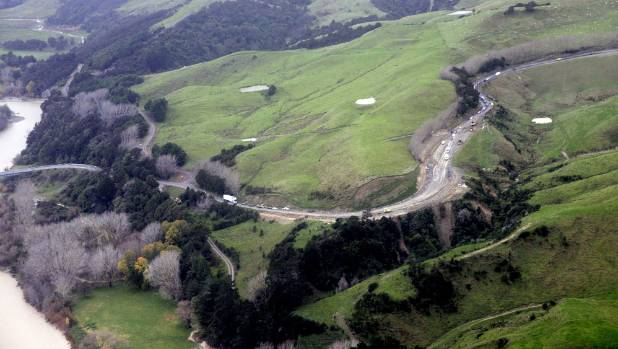 A section of the Saddle Road, which has come in for heavy traffic use since the closure of the Manawatu Gorge route.