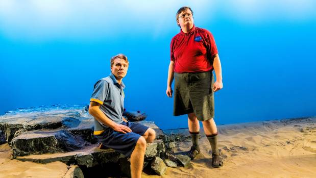 Michiel Van Echten as Ralph with Leighton Stitchbury as Piggy on the beach of their castaway island in the Centrepoint ...