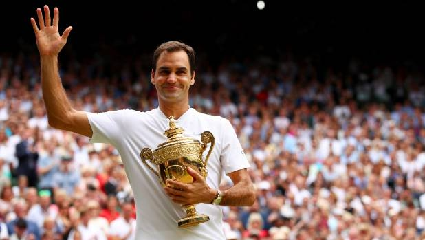 Roger Federer celebrates his Wimbledon victory and says he's in disbelief about what he has achieved.
