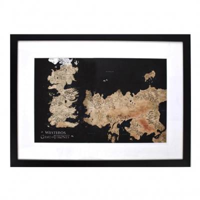No room is complete without a piece of art. Rather than spending a fortune on an antique old-world map, take your GOT ...