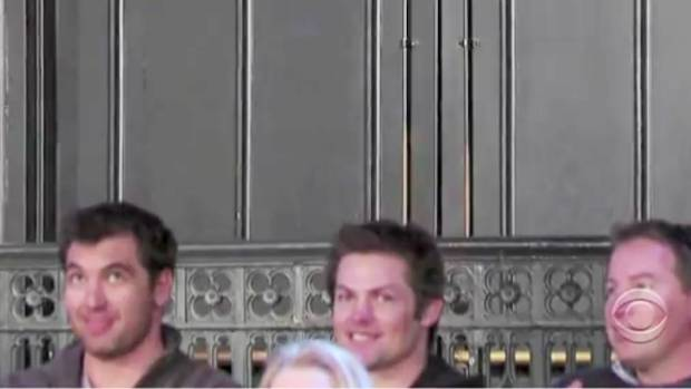 Richie McCaw spotted in the audience at the David Letterman Show in New York in 2013.
