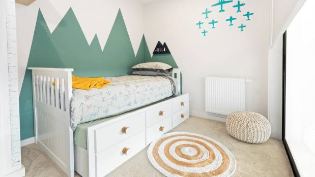 Ali and Julia came in second with their six-year-old boy's room. The trundle bed and drawers beneath the bed were seen ...