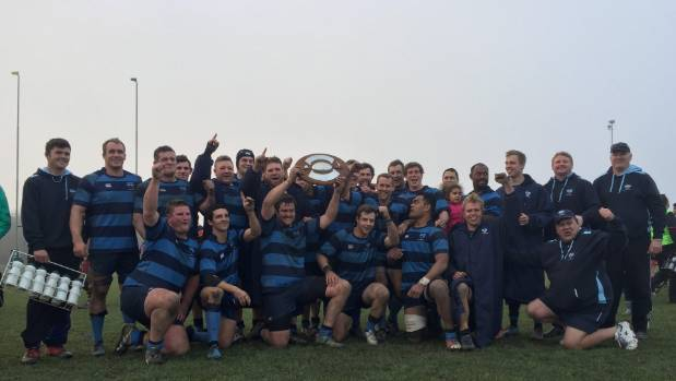 Ellesmere lift the Southbridge Shield after a 35-20 win over North Canterbury in Kaiapoi.