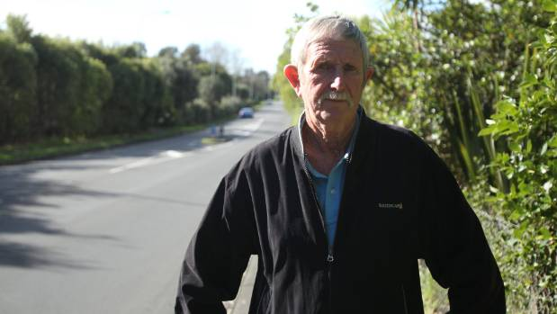 """Bob Hunter, who lives on Meola Rd, says the proposed cycle way will create """"a traffic nightmare"""" for locals and commuters."""