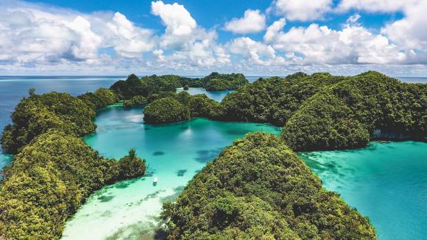 The mushroom-shaped islands of Palau.