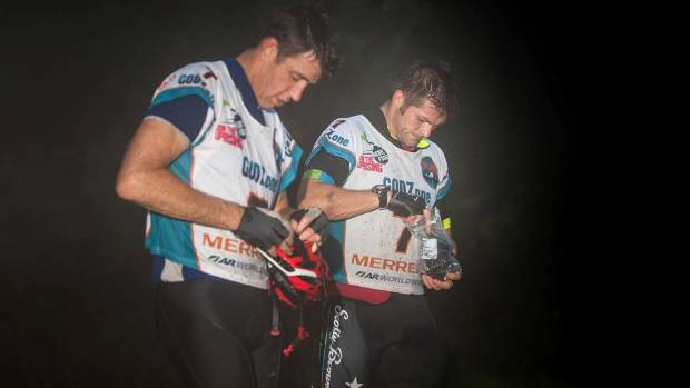 NZ Rugby Players Association Rob Nichol (left), pictured with Richie McCaw during an adventure race.