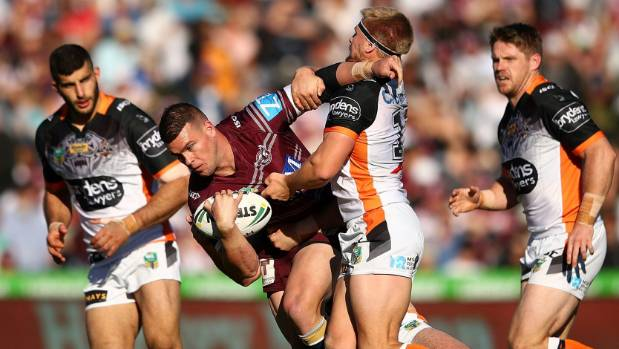 The Sea Eagles and Tigers last clashed in round 19, at Lottoland in Manly.