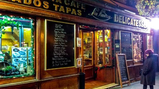 Take a tapas tour in Madrid.