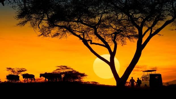 Sunset at the Serengeti.
