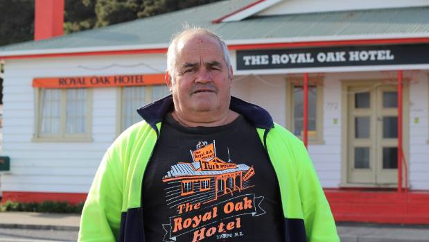 Tapu's Royal Oak Hotel owner Bruce Efford outside the hotel he's selling off.