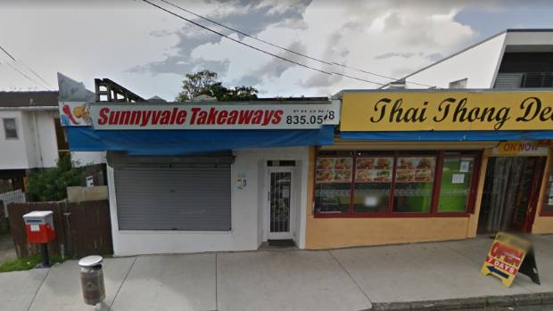 Two men robbed the owner of Sunnyvale Takeaways on Saturday night, taking the cash register.