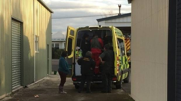 It wasn't until Sunday afternoon that the man in his 70s was freed from between the front seats, with one foot trapped ...