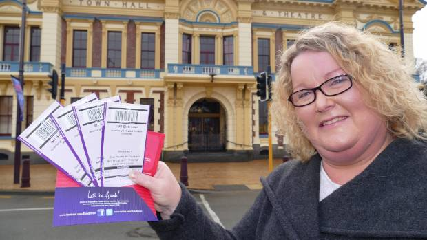 Tickets still available: Invercargill Musical Theatre office administrator Anne Lindsay with tickets for Sister Act, a ...