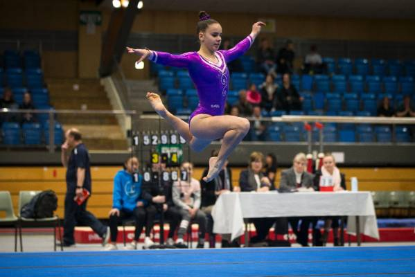 Maisie Braem of Eastern Suburbs Gymnastics Club on the floor during Sunday's Top of the South Gymnastics Competition ...