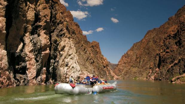 Grand Canyon whitewater rafting tour.