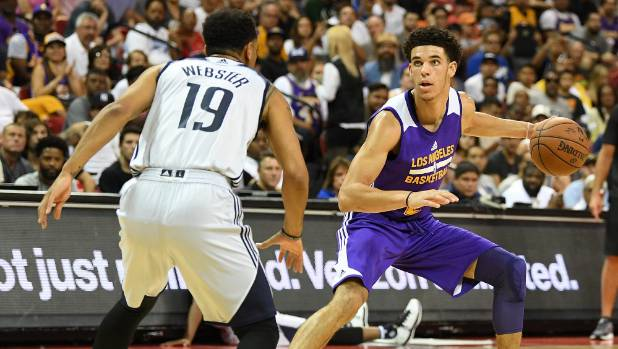 Lonzo Ball sports Under Armour; dad says switch 'statement to brands'