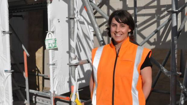 Queensgate Mall rebuild site foreman Cara Daggar is relishing the challenge of her role in a male-dominated field.