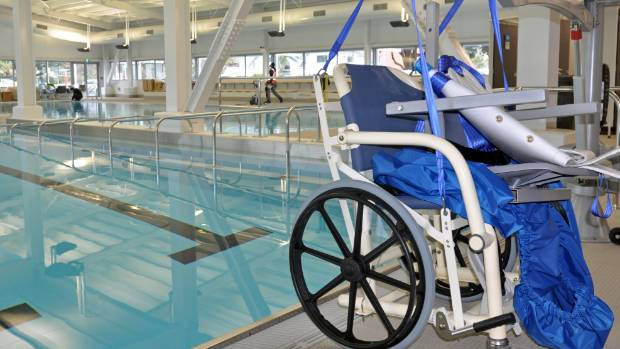 The new pool features a  purpose built hydrotherapy pool.
