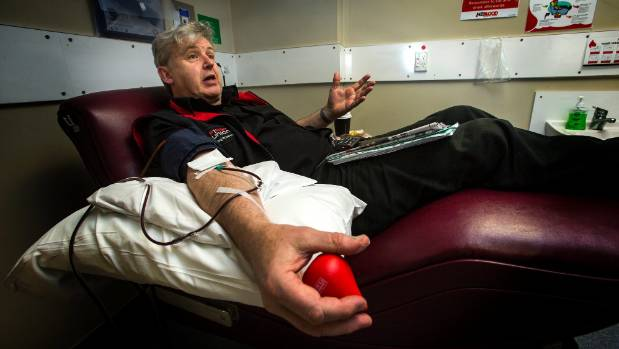 Dion Martin donates plasma every fortnight at the Palmerston North donor centre.