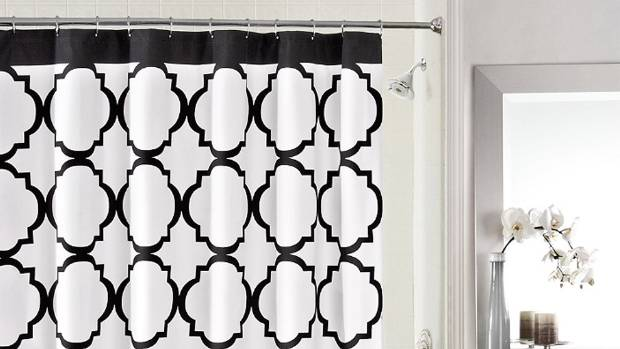 Want to add some style to the bathroom? If you're a renter, we suggest a curtain for the shower, rather than the window.
