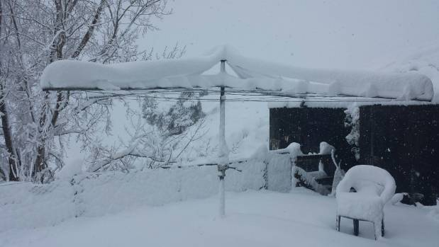 Mangaweka farmer Andrew King said the snow was knee deep around his home, and it was impossible to get out even on farm ...