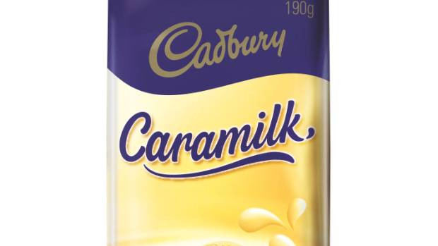 Caramilk is milk chocolate with a caramelised white chocolate centre.
