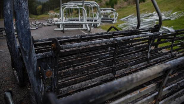 Some Worsleys Rd residents are claiming a video shows the Adventure Park chairlift spreading fire into the lower parts ...