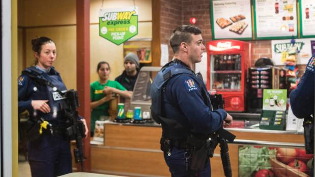 A man claiming to have a gun threatened staff and escaped with money from the Stanmore Rd Subway outlet on Monday night.