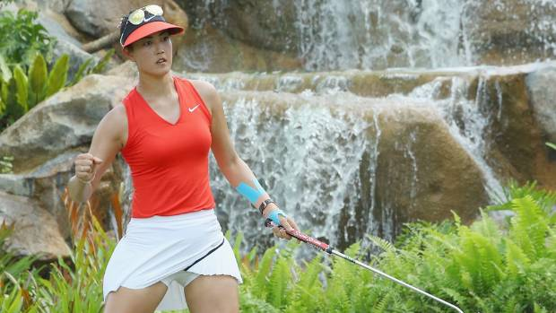 Michelle Wie's outfit would fall foul of the LPGA Tour's strict new dress code, with no collar and too short a skirt.