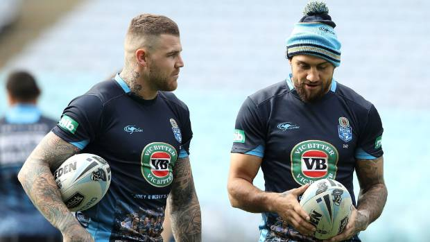 Josh Dugan, left, and Blake Ferguson reportedly spent up to eight hours at a pub the Friday before the Origin decider.