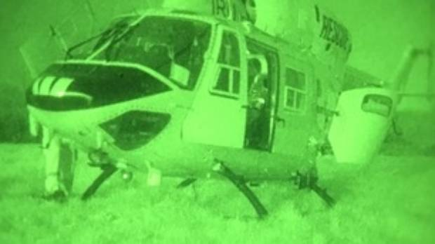 The rescue helicopter crew were able to spot the missing hiker in bushland just south of Raglan. (File photo)