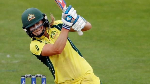 Australia's Ellyse Perry in action at the women's Cricket World Cup.