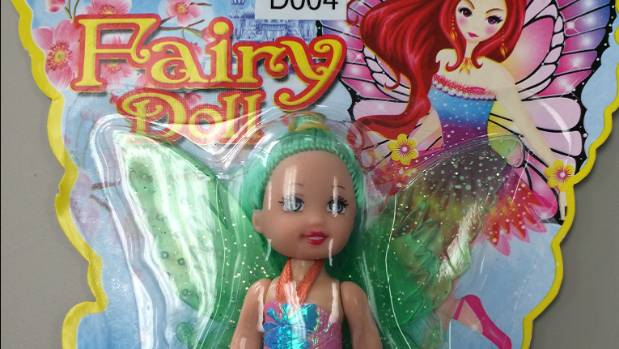 A fairy doll toy is one of the items being recalled by The 123 Mart for choking hazards.