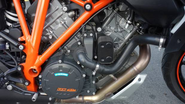 """The 129kW/136Nm V-twin engine really puts the """"super"""" into the Superduke, at all points of the tachometer."""