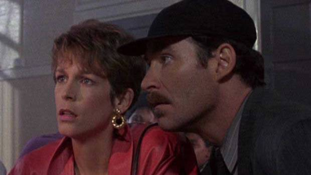 Jamie Lee Curtis and Kevin Kline in A Fish Called Wanda.