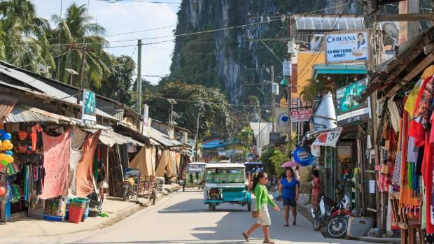 The main street of El Nido in the Palawan region.