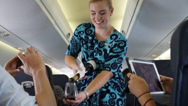 Air NZ passengers love their wine.
