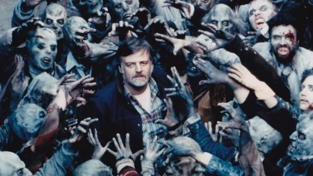 George Romero during the shooting of Dawn of the Dead.