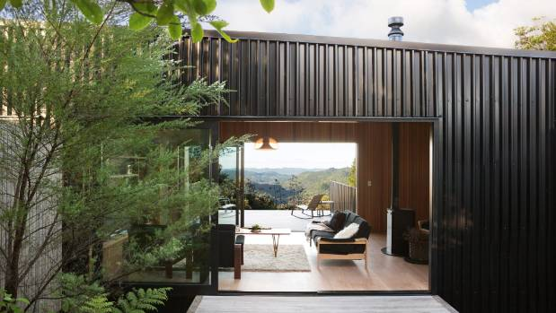 Looking through Steve and Linda Joynes' Coromandel holiday home to the views from the east-facing deck; Steve built the ...