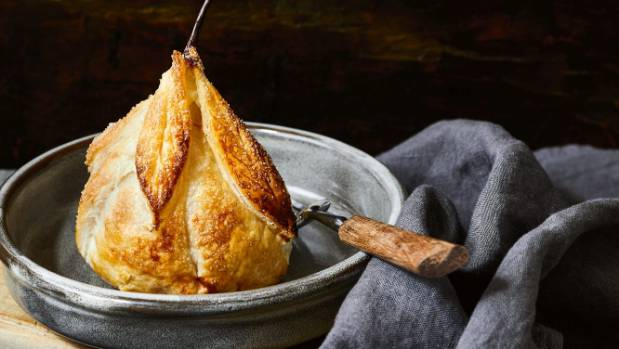 Pears in puff pastry - easy to make and lovely to look at.