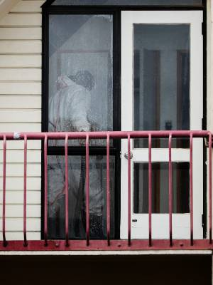A unit in a Housing New Zealand complex undergoes methamphetamine decontamination, the second unit in the Christchurch ...