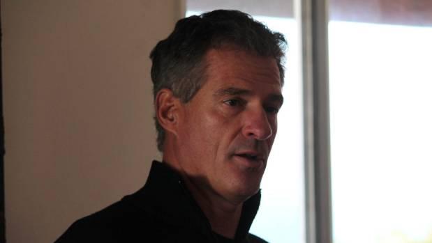 Brown speaks during his visit to Kapiti Island.