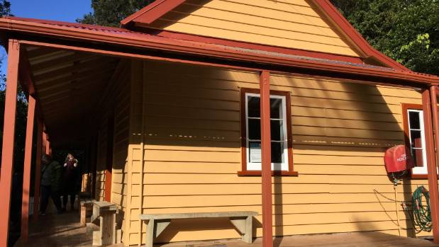 Brown's group visited the repainted whare, the oldest building on Kapiti Island, and the oldest building associated with ...