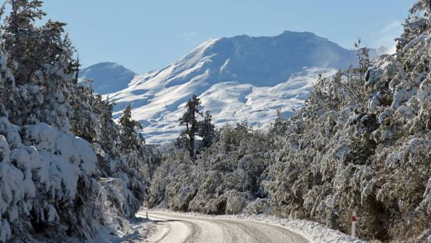 Ohakune Mountain Road winds 17km up from the township, through Tongariro National Park; native bush is left behind as ...