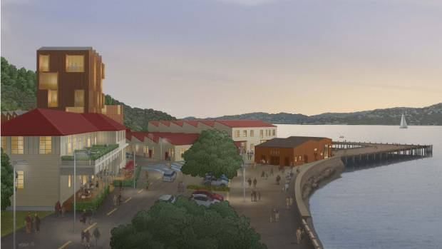 An artist impression of the proposed development of Wellington's Shelly Bay.