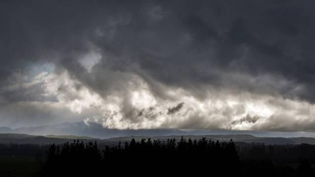 Stormy weather. — Photograph: Mytchall Bransgrove/Fairfax NZ.