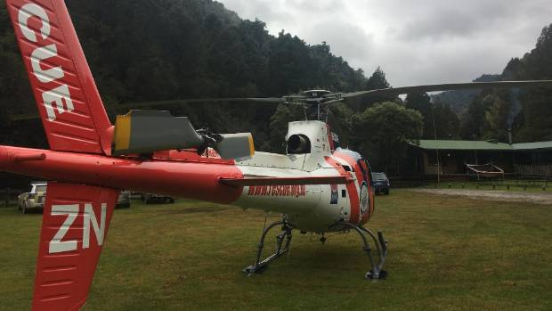 The BayTrust Rescue Helicopter assisted in the search.
