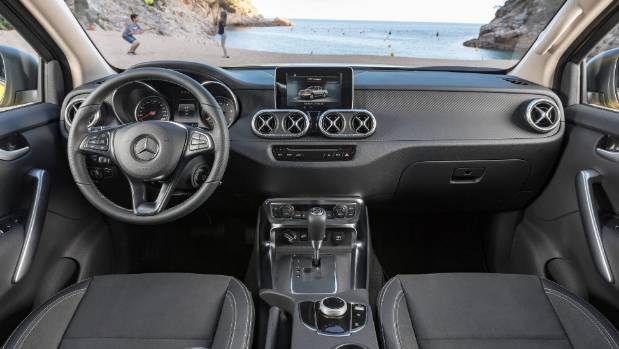 2018 mercedes benz x class price. exellent mercedes familiar mercedesbenz cues in cabin note 84inch screen x in 2018 mercedes benz x class price