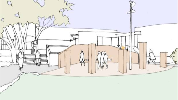 An artist's impression from Napier City Council of one of three concept plans for a war memorial on Napier's Marine ...